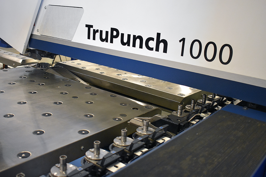 Trumpf TruPunch 1000 Bed and Clamping System
